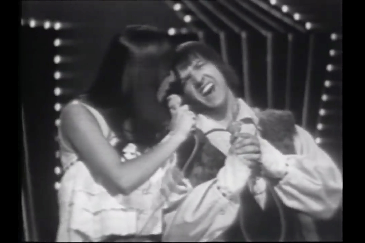 "In the beginning: Sonny and Cher in happier times, performing ""I Got You Babe"" in 1965. In the interview with Benjamin Svetkey, Cher said, ""We were living that song. Sonny wrote that song for me, and it was about our life."""